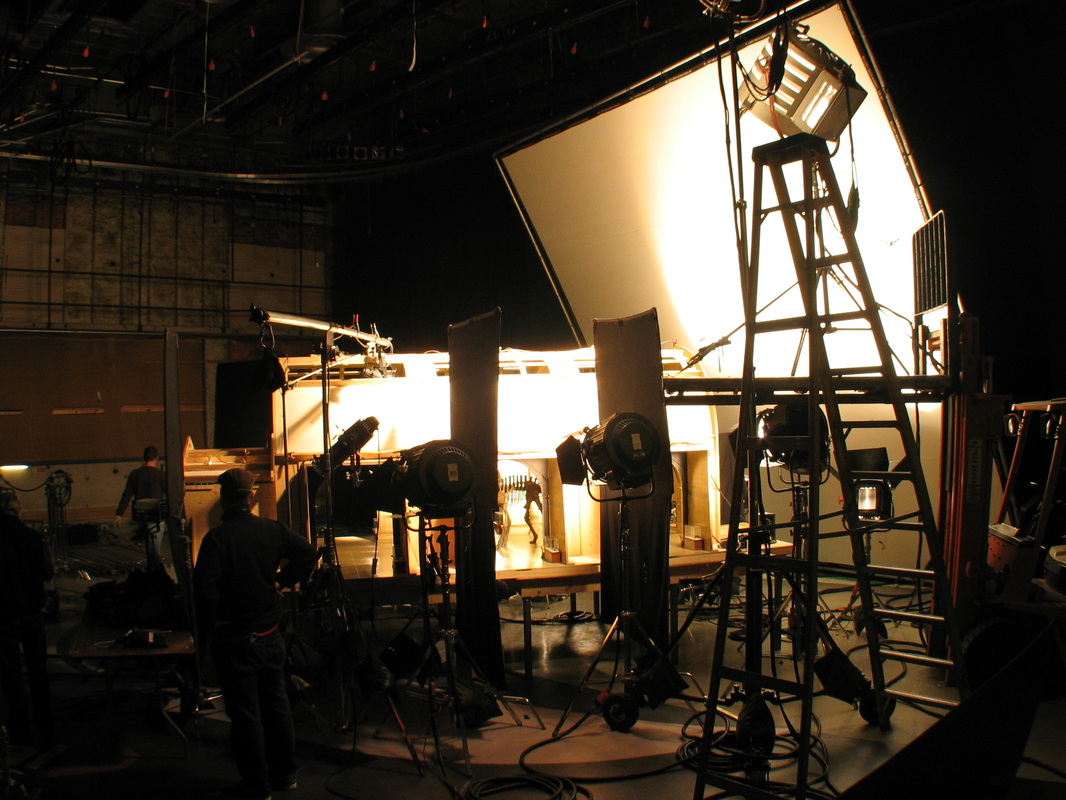The lighting set up for the model.