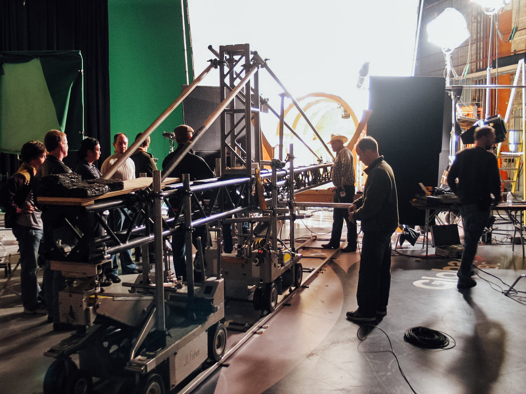 Behind the scenes of the camera gear used for the Orbit Gum commercial.